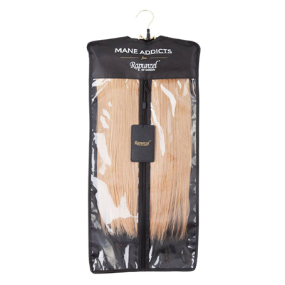 Hair extension storage bag hanging hair extension case single black pmusecretfo Image collections